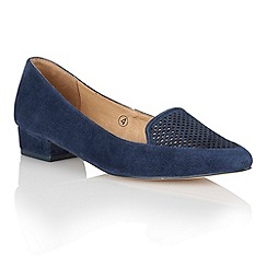 Ravel - Navy 'Anaconda' ladies poited-toe pumps