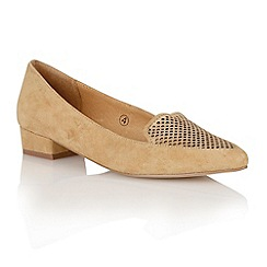 Ravel - Tan 'Anaconda' ladies pointed-toe pumps
