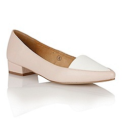 Ravel - Nude/white patent 'Peoria' pointed-toe pumps
