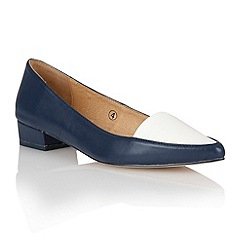 Ravel - Navy/white patent 'Peoria' pointed-toe pumps