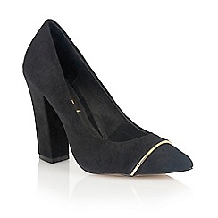 Ravel - Black Suede 'Oak Ridge' ladies court shoes