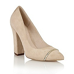 Ravel - Beige suede 'Oak Ridge' ladies court shoes