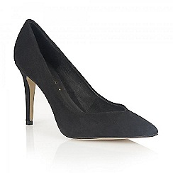 Ravel - Black suede 'Seattle' ladies heeled pumps