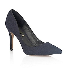 Ravel - Navy 'California' ladies heeled pumps