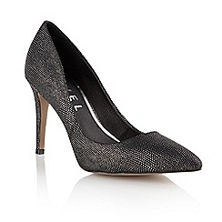 Ravel - Black/silver 'Chicago' ladies heeled pumps