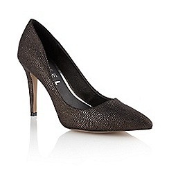 Ravel - Black/bronze 'Chicago' ladies pumped shoes