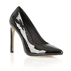 Ravel - Black patent 'San Antonio' heeled court shoes