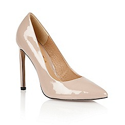 Ravel - Nude 'San antonio' ladies heeled court shoes