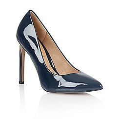 Ravel - Navy 'San antonio' ladies heeled court shoes