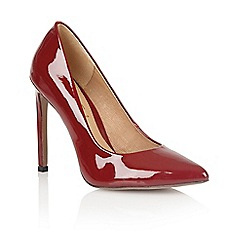 Ravel - Ox blood 'San antonio' ladies heeled court shoes