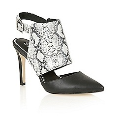 Ravel - Black snake 'Fort worth' ladies stiletto shoes