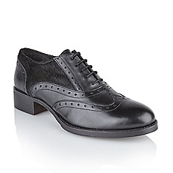 Ravel - Black 'Ohio' ladies flat lace up brogues