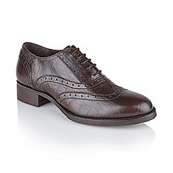 Ravel - Brown 'Ohio' ladies flat lace up brogues