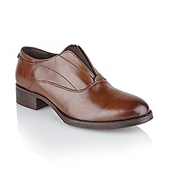 Ravel - Brown 'Charlotte' ladies slip on brogues