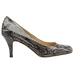 Ravel - Grey snake 'Donley' high heeled court shoes