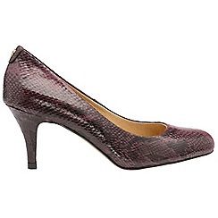Ravel - Red snake 'Donley' high heeled court shoes