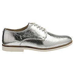 Ravel - Silver 'Reagan' ladies lace up brogues