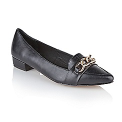 Ravel - Black pu 'Boston' ladies flat pump shoes