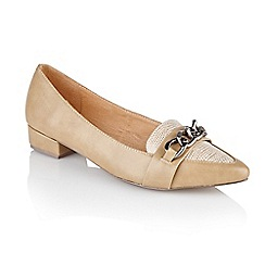 Ravel - Beige 'Boston' ladies flat pump shoes