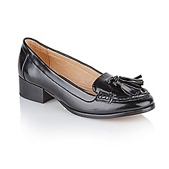 Ravel - Black pu 'Brantford' ladies slip on loafers