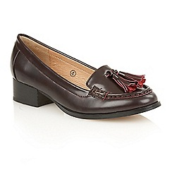 Ravel - Burgundy 'Brantford' ladies slip on loafers