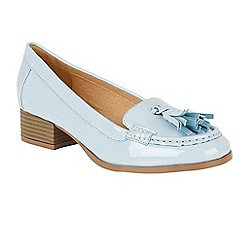 Ravel - Pale Blue 'Brantford' tassel trim loafers
