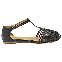 Ravel - Black 'Anderson' ladies ankle strap sandals