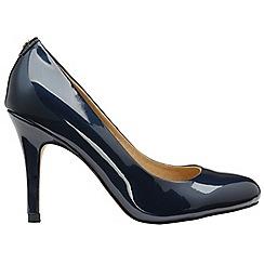 Ravel - Navy 'Clanton' ladies high heeled court shoes