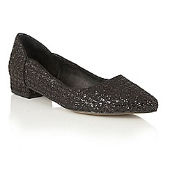 Ravel - Black glitter 'Carson' pointed toe shoes