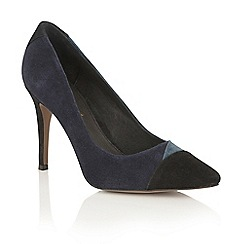 Ravel - Petrol mix kid suede 'Elmira' court shoes