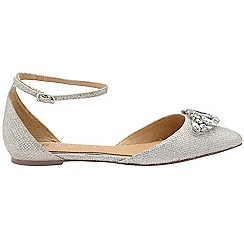 Ravel - Silver 'Winthrop' ladies ankle strap sandals