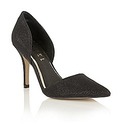 Ravel - Black sparkle 'Medford' pointed toe court shoes