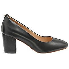 Ravel - Black 'Weston' ladies block heel slip on shoes