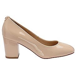 Ravel - Nude 'Weston' ladies block heel slip on shoes