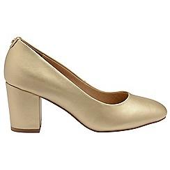 Ravel - Gold 'Weston' ladies block heel slip on shoes