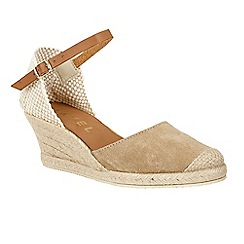 Ravel - Mushroom 'Etna' wedge heeled espadrille sandals