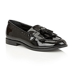 Ravel - Black Patent 'Tilden' ladies slip on loafers