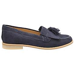 Ravel - Navy 'Tilden' ladies slip on loafers