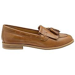 Ravel - Tan 'Tilden' ladies slip on loafers