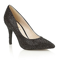 Ravel - Black satin 'Shelby' ladies court shoes