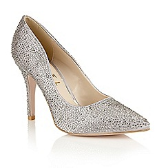 Ravel - Silver satin 'Shelby' ladies court shoes
