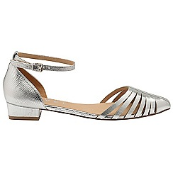 Ravel - Silver 'Medina' ladies ankle strap sandals