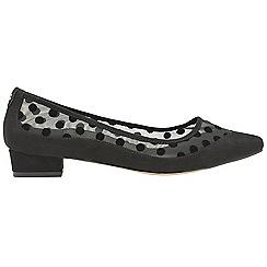 Ravel - Black 'Valda' ladies pointed toe slip on shoes