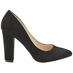 Ravel - Black 'Hazelton' ladies high heeled court shoes