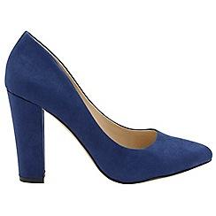 Ravel - Navy 'Hazelton' ladies high heeled court shoes