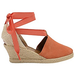 Ravel - Coral 'Antora' ladies suede wedges