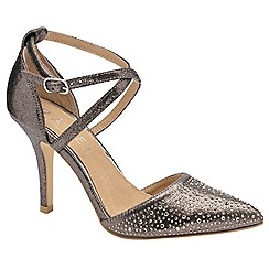 Ravel - Silver 'Rainsville' ladies stiletto glitter shoes