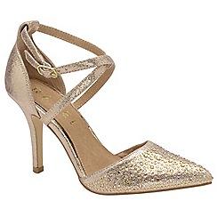 Ravel - Gold 'Rainsville' ladies stiletto glitter shoes