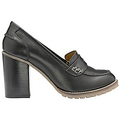 Ravel - Black 'Colby' ladies slip on high heeled shoes