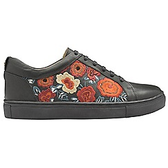Ravel - Black 'Garo' ladies lace up casual trainers